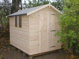 Log Cladding Garden Shed