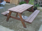 Pine Rectangular Garden Picnic Table