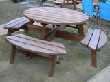 Pine Round Garden Picnic Table