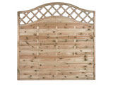 Wayland Sussex Wave Continental Garden Fence Panels