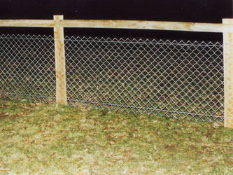 Chain Mesh Post & Rail Commercial Fence