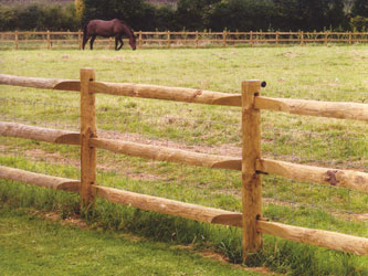 Half Round Morticed Post & Rail Commercial Fence