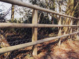 Combination Nailed Post & Rail Commercial Fence