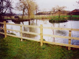Square Morticed Post & Rail Commercial Fence