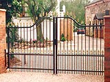 Sentry Ornamental Security Commercial Swing Entrance Gates