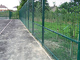 Sports Silver Commercial Fence