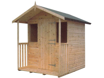 Children's Playhouses: Aspen Apex Wendy House