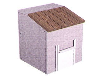 Coal Bunker Concrete Garden Storage Units