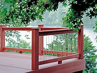 Scenic glass garden decking balustrade for Garden decking glass panels