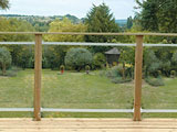 Glass Garden Decking Panels Balustrade