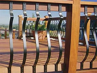 Baroque Metal Garden Decking Panel Spindles