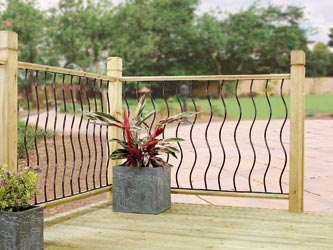 Coast metal garden decking panel inserts for Flat pack garden decking