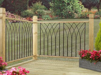 Java Metal Garden Decking Panel Inserts