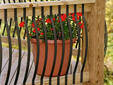 Arc Metal Garden Decking Panel Spindles