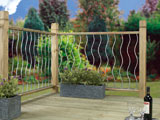 Swirl Metal Garden Decking Panel Inserts