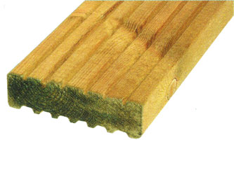38mm x 125mm Timber Garden Decking Boards