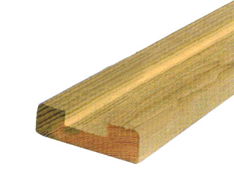 25mm x 75mm Timber Garden Decking Baserails