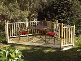 Timber Garden Decking & Balustrade Kit