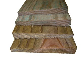 Natural Treated Feather Edge Boards