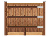Brown Treated Closeboarded Garden Fence & Timber Materials