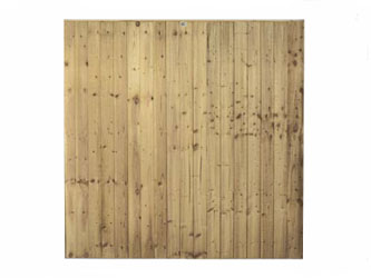 Brown Treated Super Featheredge Garden Fence Panels