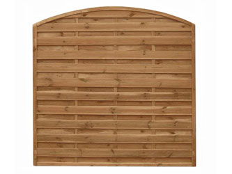 Devon Arch Continental Garden Fence Panels