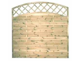 Sussex Arch Continental Garden Fence Panels