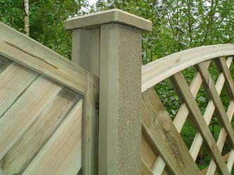 Concrete Slotted Garden Fence Posts