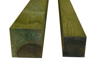 Natural Treated Timber Garden Fence Posts