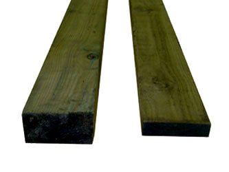 Natural Treated Timber Half Garden Fence Posts
