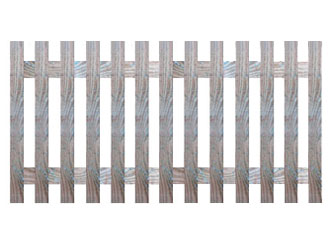 Natural Treated Flat Palisade Picket Garden Fence