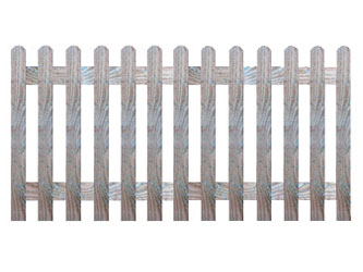 Natural Treated Rounded Palisade Picket Garden Fence