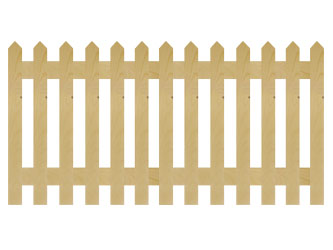 PAR Pointed Palisade Picket Garden Fence