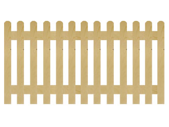 PAR Rounded Palisade Picket Garden Fence