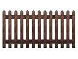 Brown Treated Pointed Palisade Picket Garden Fence