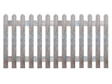 Natural Treated Pointed Palisade Picket Garden Fence