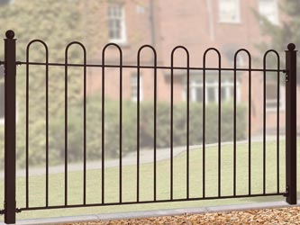 Court Wrought Iron Garden Fence Panels