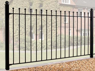 Manor Wrought Iron Garden Fence Panels