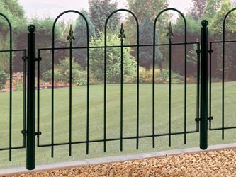 Village Mini Wrought Iron Garden Fence Panels