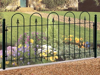 Village Wrought Iron Garden Fence Panels