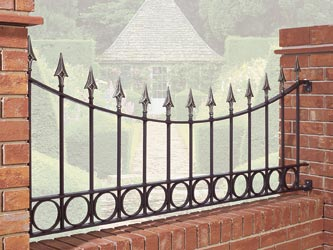 Balmoral Panel Wrought Iron Garden Railings