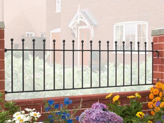 Manor Wrought Iron Garden Railings