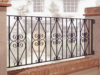 Stirling Wrought Iron Garden Railings