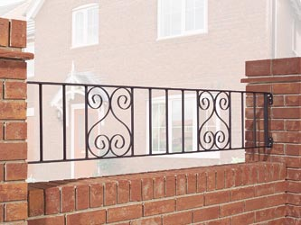 Universal Wrought Iron Garden Railings