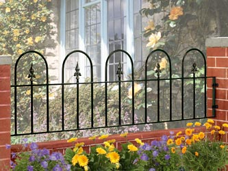Village Wrought Iron Garden Railings