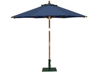 Round 2.5m Garden Table Parasols Blue