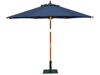Round 3.0m Garden Table Parasols Blue