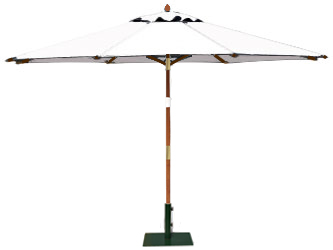 Round 3.5m Garden Table Parasols Natural