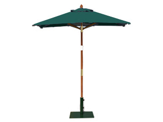 Square 1.5m Garden Table Parasols Green