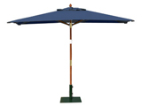 Rectangular 3.0m x 2.0m Garden Table Parasols Blue